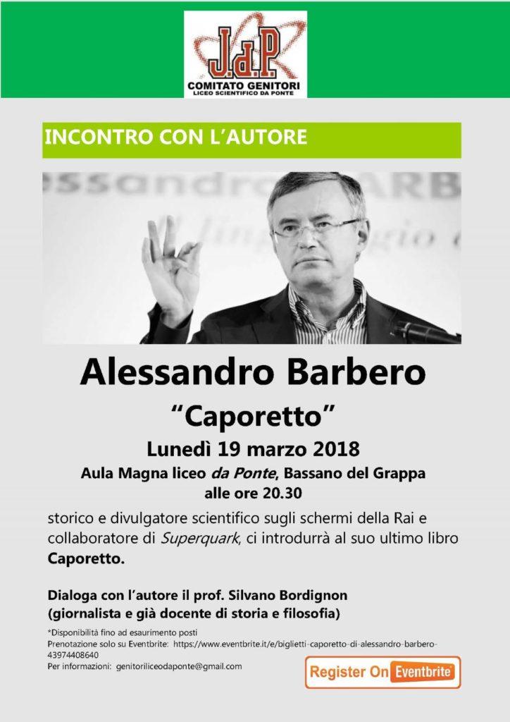 """Alessandro Barbero """"Caporetto"""" @ Liceo Scientifico Da Ponte   Bassano del Grappa   Veneto   Italia"""
