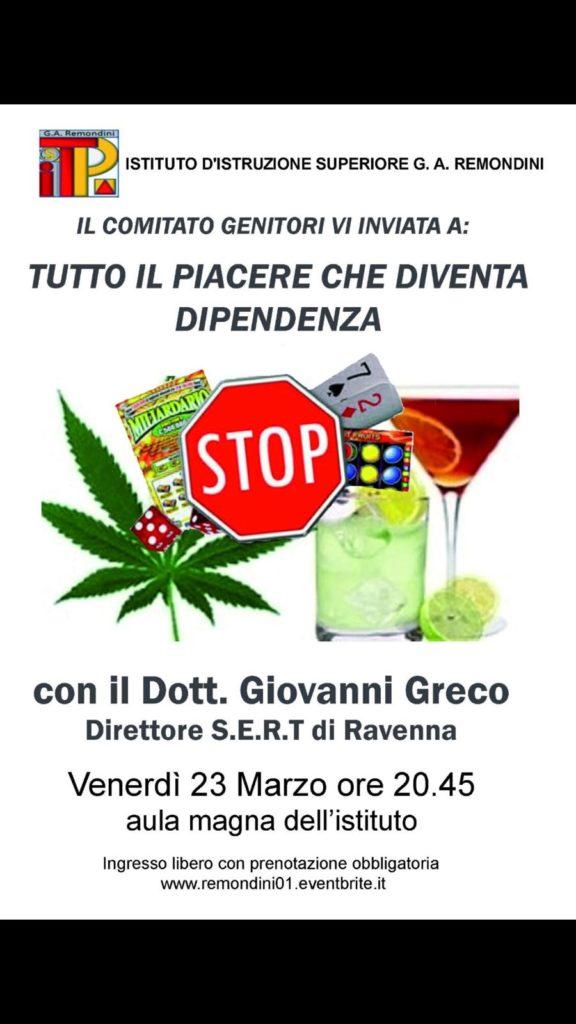 Incontro con il dott. Greco: Tutto il piacere che diventa dipendenza @ IIS Giovanni Antonio Remondini   Bassano del Grappa   Veneto   Italia
